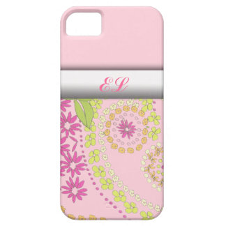 Cubiertas florales femeninas del monograma iphone5 iPhone 5 carcasa