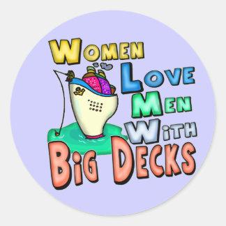 Cubiertas grandes del amor de las mujeres que pesc etiquetas