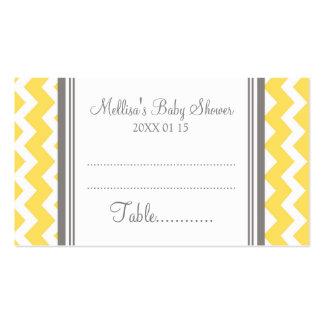 Cubierto amarillo de la tabla de la fiesta de tarjetas de visita