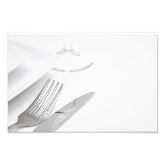 Cubierto blanco fotografía