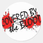 Cubierto por la sangre etiqueta