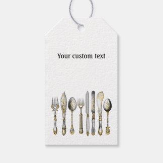 Cubiertos de la cocina de la cuchara de la etiquetas para regalos