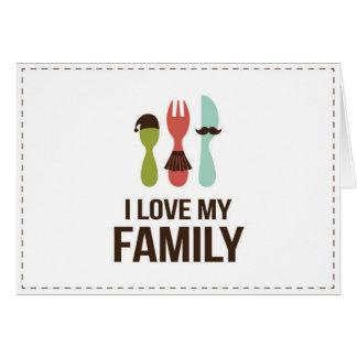 Cubiertos - familia del amor M y de I Felicitaciones