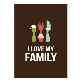 Cubiertos - familia del amor M y de I Postal