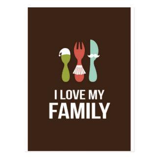 Cubiertos - familia del amor M y de I Tarjetas Postales
