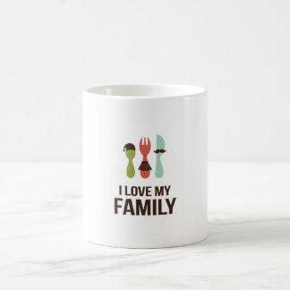 Cubiertos - familia del amor M y de I Taza Básica Blanca