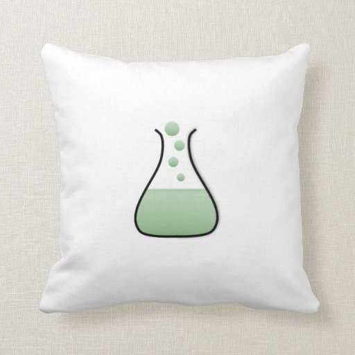 Cubilete de la ciencia de la química almohadas