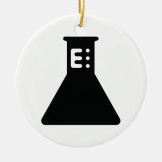 Cubilete de la química adorno redondo de cerámica