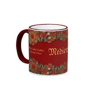 Cubilete divertido Runneth del café del Medievalis Taza A Dos Colores