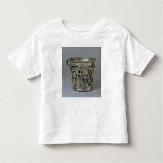 Cubilete grabado en relieve con los esqueletos playera de niño