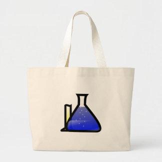 Cubiletes de la química bolsa tela grande