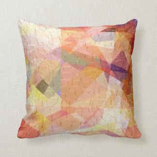 Cubism Abstract Art | Retro Geometric Pattern Throw Pillow