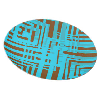 Cubism In Motion Party Plates