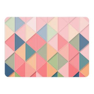 CUBISM pastel Shades GEOMETRIC - ADD MONOGRAM Card