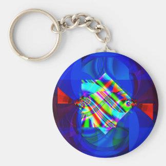 Cubismo Llavero Redondo Tipo Pin