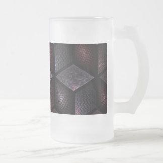 Cubist 16 Oz Frosted Glass Beer Mug