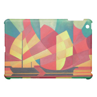 Cubist Abstract of Junk Sails and Ocean Skies iPad Mini Case