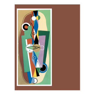 Cubist Abstract Postcard