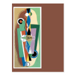 Cubist Abstract Postcards