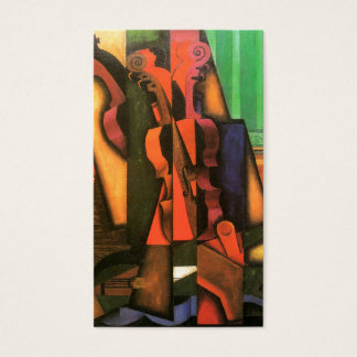Cubist art Violin and Guitar painting by Juan Gris Business Card