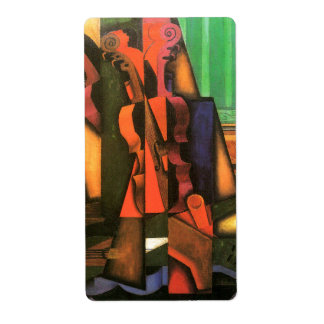 Cubist art Violin and Guitar painting by Juan Gris Label