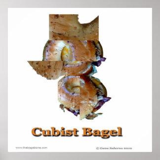 Cubist Bagel Poster