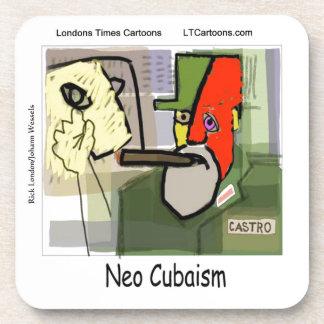 Cubist Castro NeoCubaism Funny Beverage Coaster