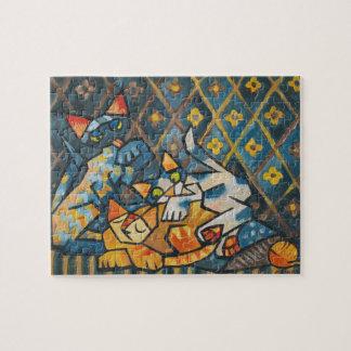 Cubist Cats Puzzle