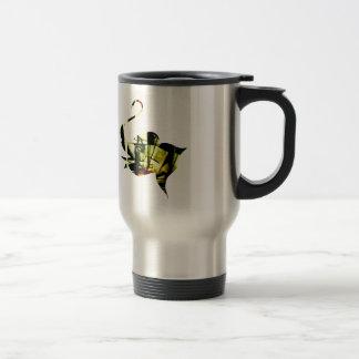Cubist Elephant 15 Oz Stainless Steel Travel Mug