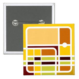 Cubist Elephant 2 Inch Square Button