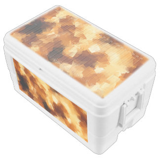 Cubist Fire Abstract Pattern Ice Chest