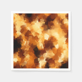 Cubist Fire Abstract Pattern Napkin