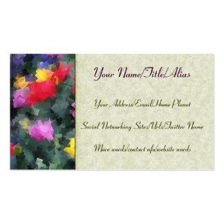 Cubist Flowers Business Card