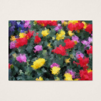 Cubist Flowers Business Card