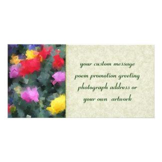 Cubist Flowers Card