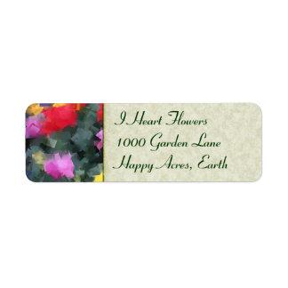 Cubist Flowers Label