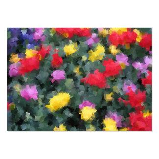 Cubist Flowers Large Business Card