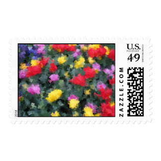 Cubist Flowers Stamp
