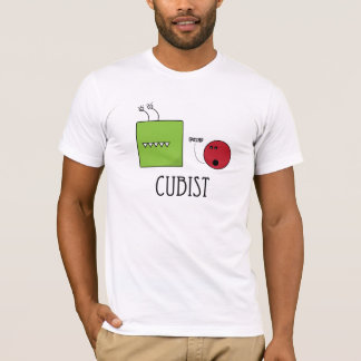 Cubist green and red T-Shirt