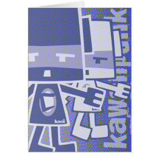 Cubist Mascot Greeting Card