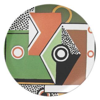 Cubist Modern Dinner Plate