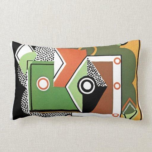 Modern Lumbar Pillow : Cubist Modern Lumbar Pillow Zazzle