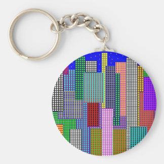 Cubist NY Night Keychain