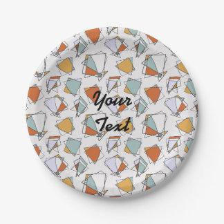Cubist pattern paper plate