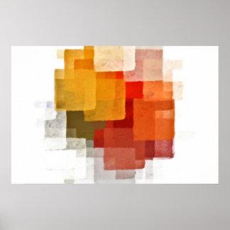 Cubist pattern poster