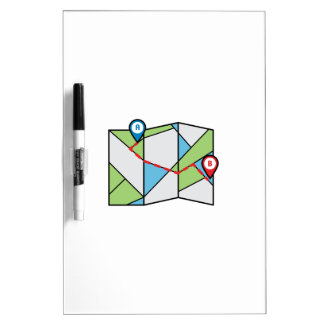 Cubist Road Map Dry-Erase Whiteboards