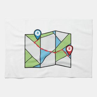 Cubist Road Map Hand Towel