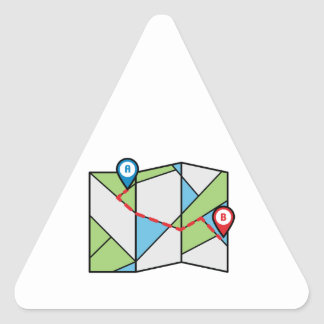 Cubist Road Map Triangle Sticker