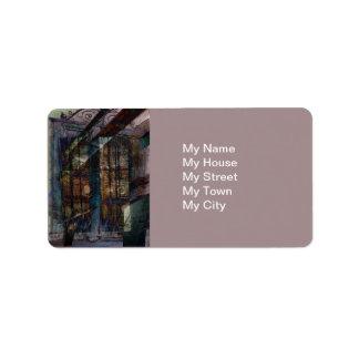 Cubist Shutters, Doors & Windows Personalized Address Labels