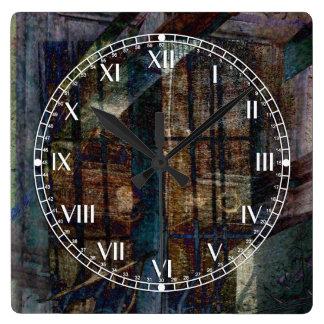 Cubist Shutters, Doors & Windows Square Wall Clock